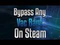 How To Bypass Any Vac Bans On Your Steam Profile (Only Get From Me On Skype) No Download