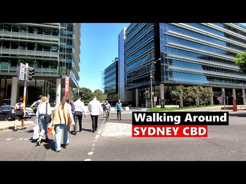 Walking Around SYDNEY CBD From Town Hall To Darling Harbour & Chinatown, Sydney Australia