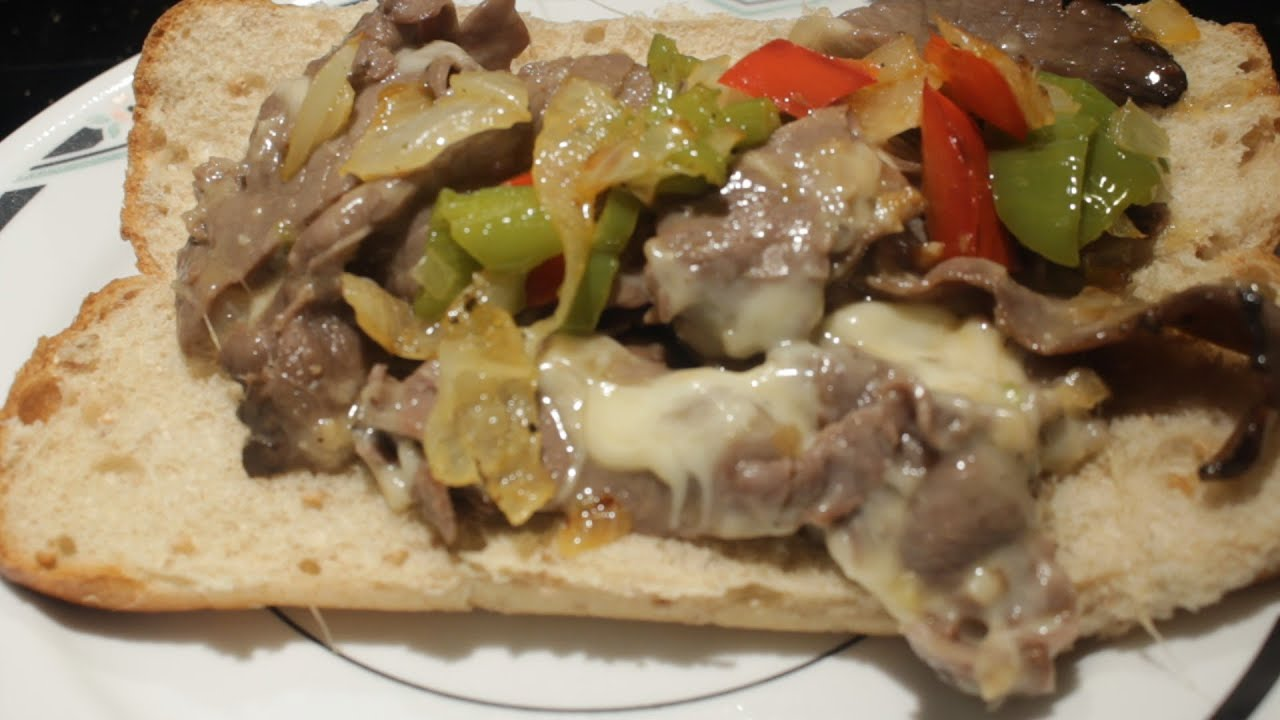 Easy Quick Philly Cheese Steak Sandwich Cheap version - YouTube