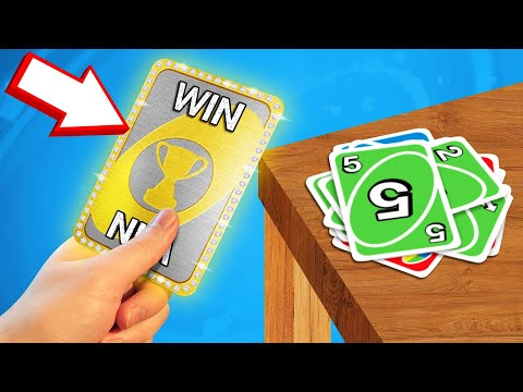 *ALWAYS WIN* Using This CHEAT CARD! (Uno)