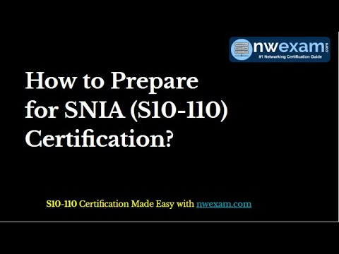 SNIA Storage Professional (S10-110) Certification | Questions And Answers