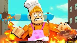 I burned down This Roblox KITCHEN.. (everyone died)