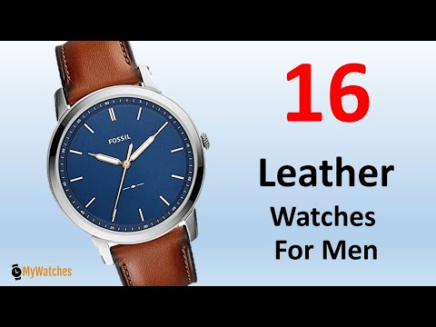 16​ Brown Leather​ Watch​ For​ Men