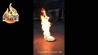Heptane Pan Flame rip