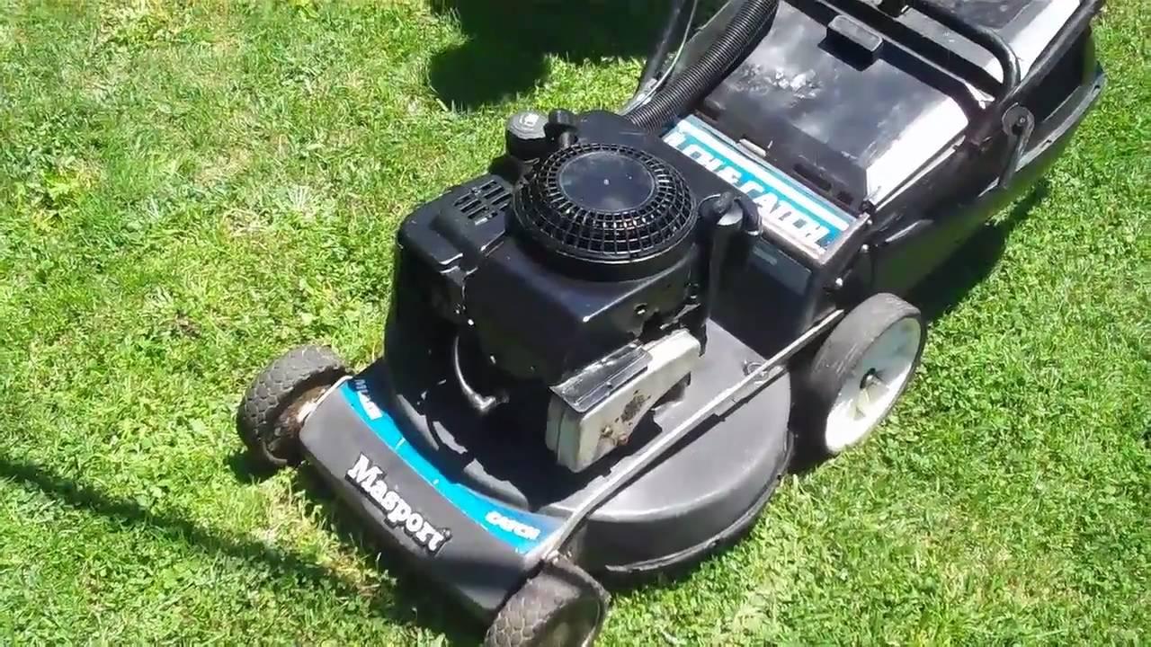 masport 4 stroke lawn mower mulcher youtube rh youtube com