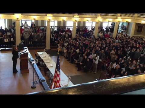 New Citizens Sworn In at Boston
