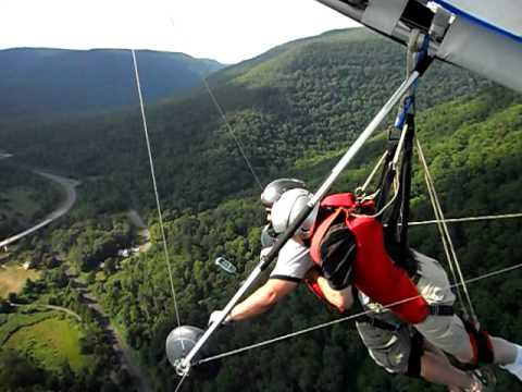 Hang gliding tandem flight at Hyner View, Hyner, Pennsylvania