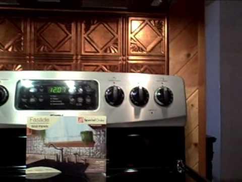 Copper Backsplash In Kitchen Installation