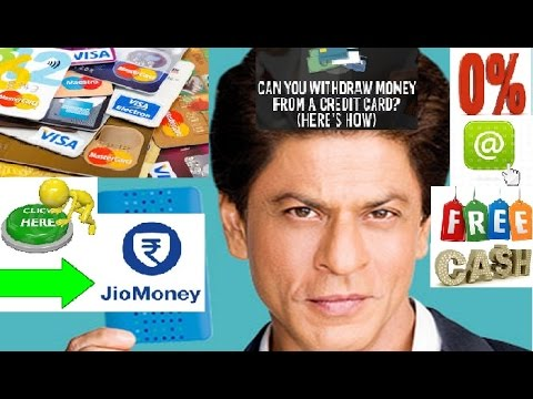 Withdraw Free Cash From Credit Card Of Any Bank No Charges With Jio Money