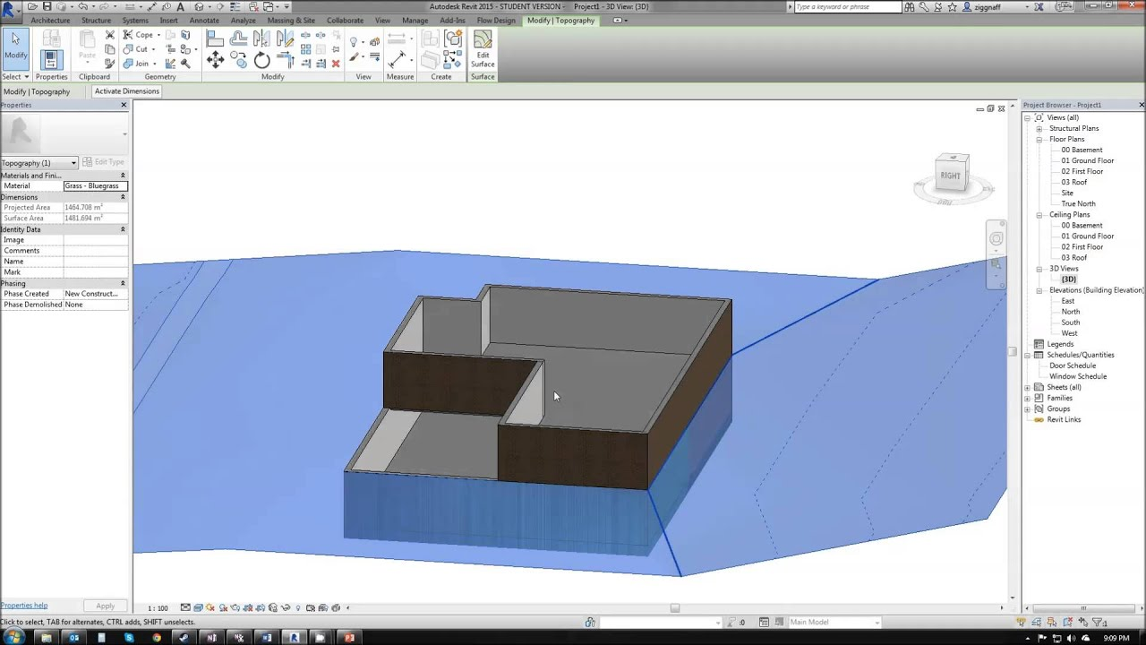 04 – Revit Tutorial - Building Pads and Floors