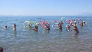 Анимация, спортивная гимнастика на море в отеле GrandPark Lara 5* Анталья Турция июнь 2017