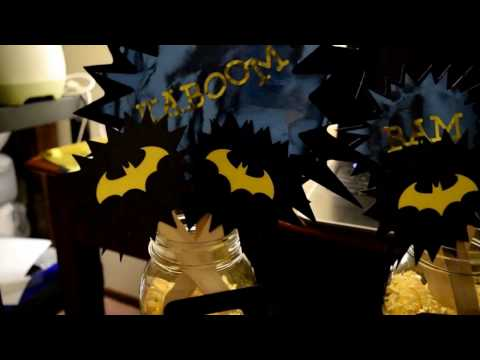 DIY Dollar Tree Batman Party Decor