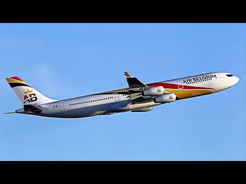 "A340 Air Belgium first Commercial Flight, for SLM ""Surinam Airways"" to Paramaribo"