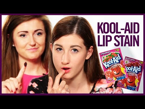 KOOL-AID LIP STAIN - Makeup Mythbusters w/ Maybaby & SarahBelle93x