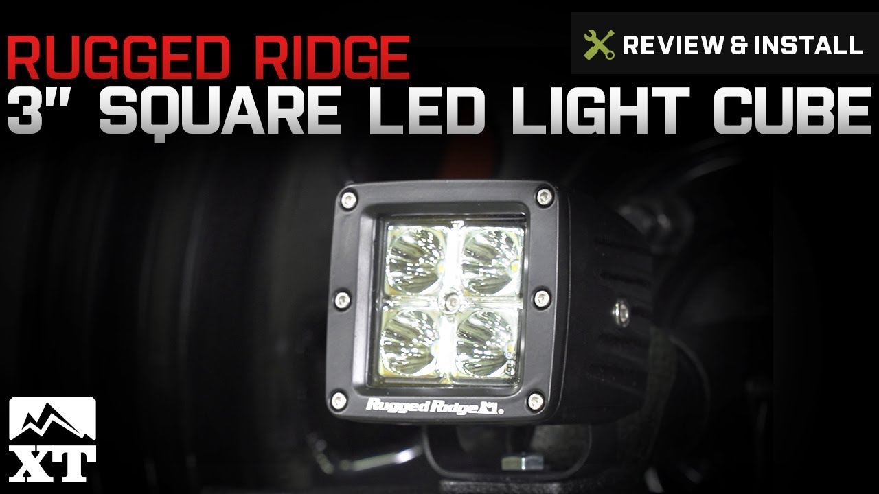 Jeep Wrangler Rugged Ridge 3 Square Led Light Cube 1987 2017 Yj Tj Fog Wiring Jk Review Install