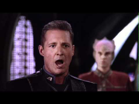 Babylon 5 scene: Sheridan: Get The Hell out of our Galaxy!