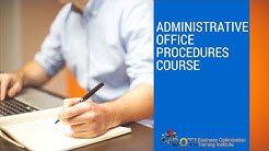 Administrative Office Procedures Course
