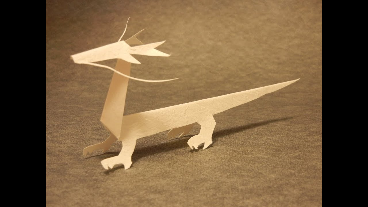 Lets Make A Dragon Of KiriOrigami Paper Craft