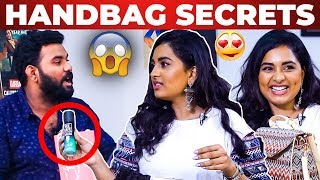 SUPER FUN: Dimple Queen Srushti Dange Handbag Secrets Revealed | What's Inside the Handbag?