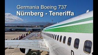 Germania B 737 - Nürnberg/Teneriffa (Start-Landung)