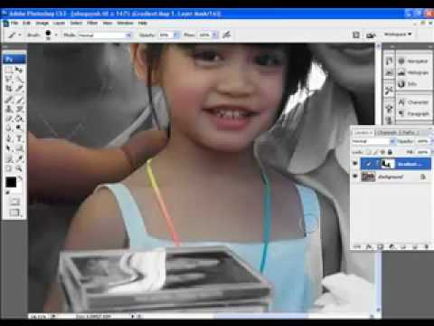 Hoc xu ly anh Hocphotoshop.com Huong dan Ky thuat tron mau nghe thuat