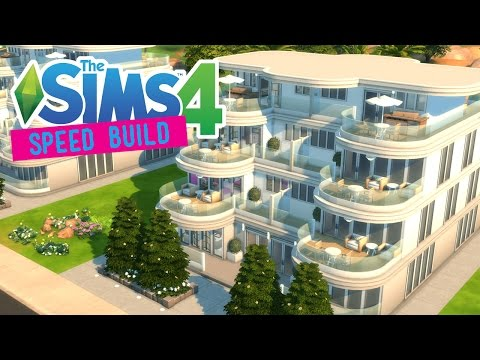 The Sims 4 -Speed Build- TERRACE RESORT APARTMENTS!  - No CC -