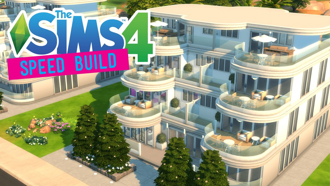 The sims 4 speed build terrace resort apartments no for Terrace building
