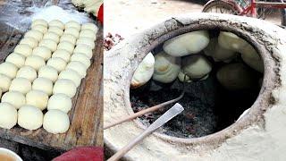 Naan or Tandoori Roti with Dal Vaji   How To Make Tandoori Roti On Tawa?   Bangladehi Street Food