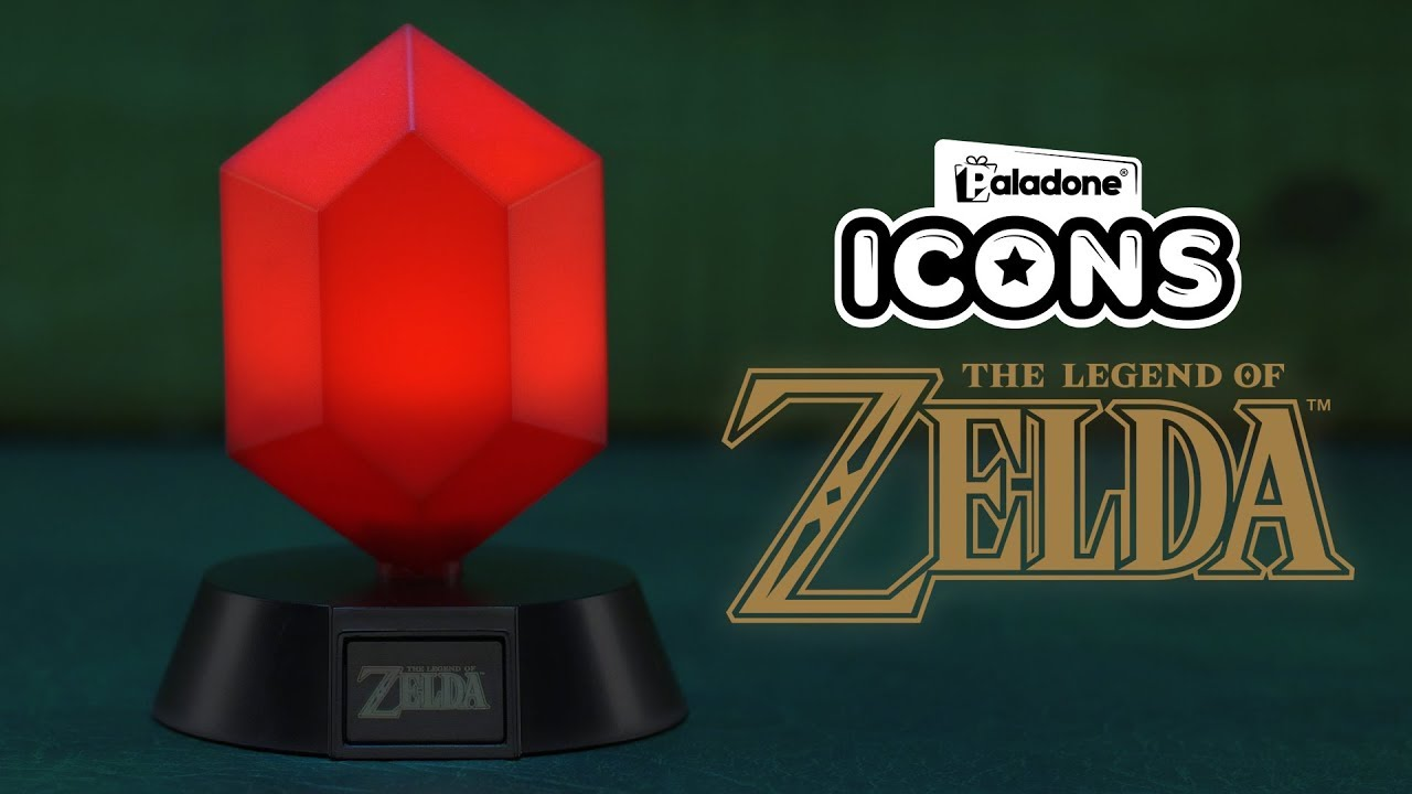 The Legend of Zelda Red Rupee Icon Light | Paladone - YouTube