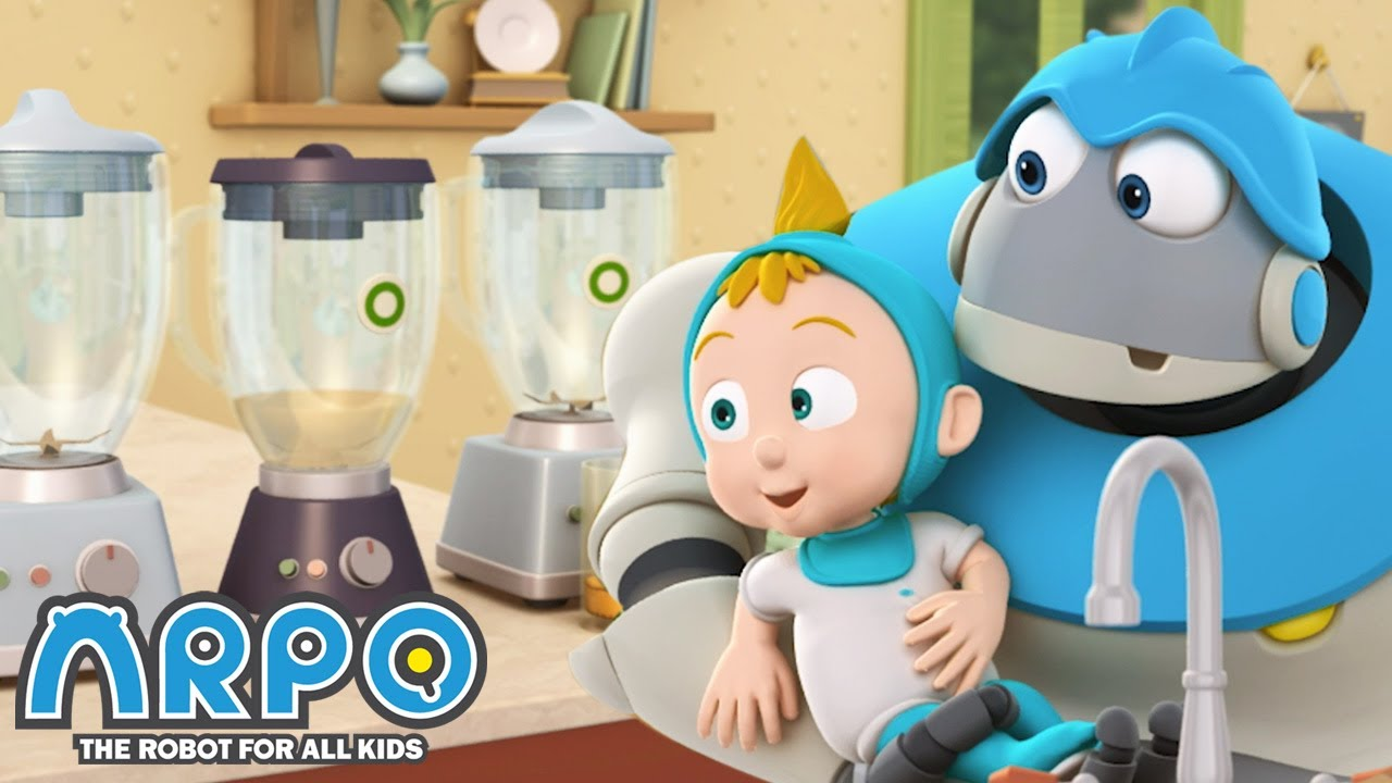 Smoothie CHAOS - ARPO the Robot | 에피소드를보고 | Cartoons for Kids | Robot Animation