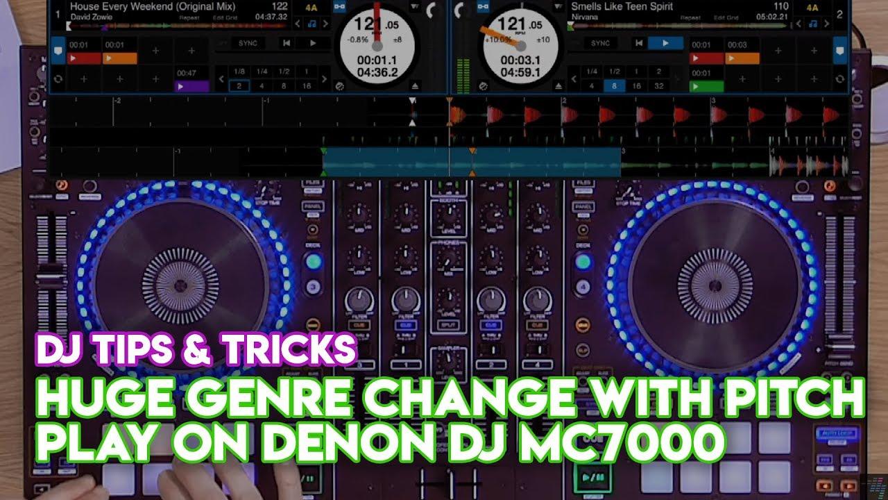 Serato DJ Pro Mix Tips & Tricks #1: HUGE genre change with Pitch Play on  Denon DJ MC7000