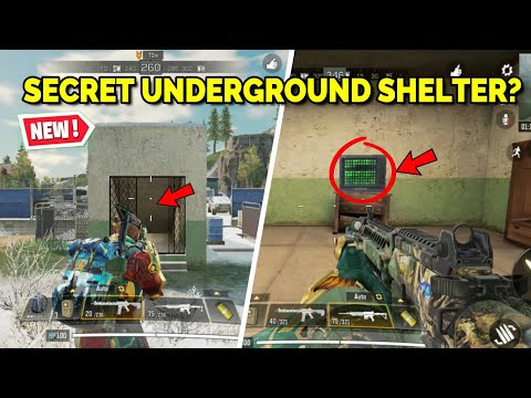 *NEW* SECRET UNDERGROUND SHELTER Location In Call Of Duty Mobile Battle Royale?