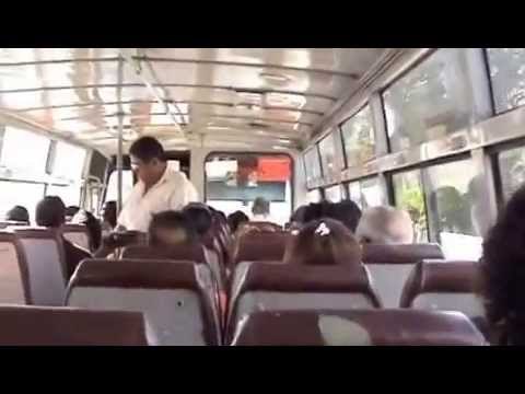Local bus ride in Mauritius July & August 2012