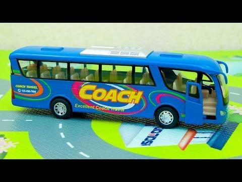 Машинки мультфильм - Мир машинок - 144 серия: Автобус, Полицейская машина. Мультик для детей.