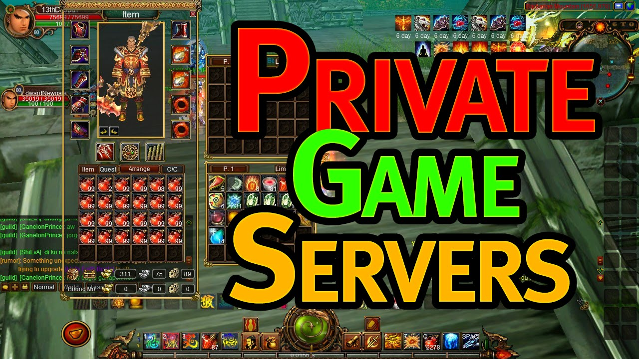 Private Online Game Servers - How to get them and What are they?