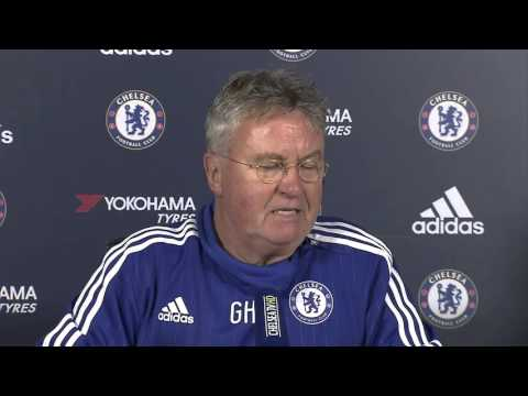 Guus Hiddink unveiled at Chelsea