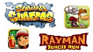 GamePlay De Subway Surfers e Rayman Jungle Run - Galaxy