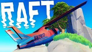 RAFT - Finding A CRASHED PLANE?! - Killing The Screecher Bird Boss - Raft Gameplay