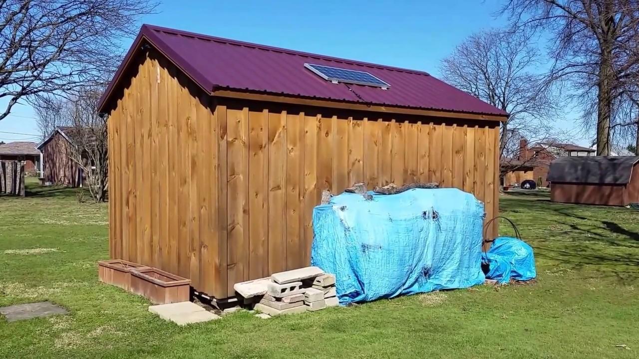 Solar Powered Off Grid Shed Setup Youtube