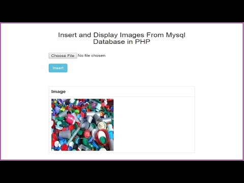 Insert and Fetch Images From Mysql Database in PHP