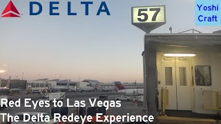 Red Eyes to Las Vegas - The Delta First Class B757-300 Experience (HNL-LAX-LAS) (Trip Report)
