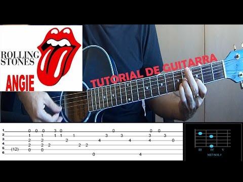 TUTORIAL GUITARRA | Angie - ROLLING STONES