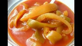 Болгарское лечо из перца с томатной пастой