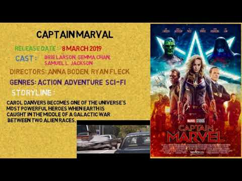 Captain Marval  upcoming Latest Hollywood Movies 2019