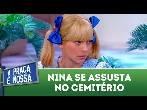 Nina se assusta no cemitério | A Praça é Nossa (30/08/18)