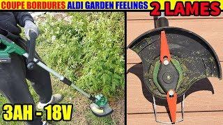 coupe bordures aldi garden feelings 2 lames 18v 3ah cordless lawn trimmer akku rasentrimmer