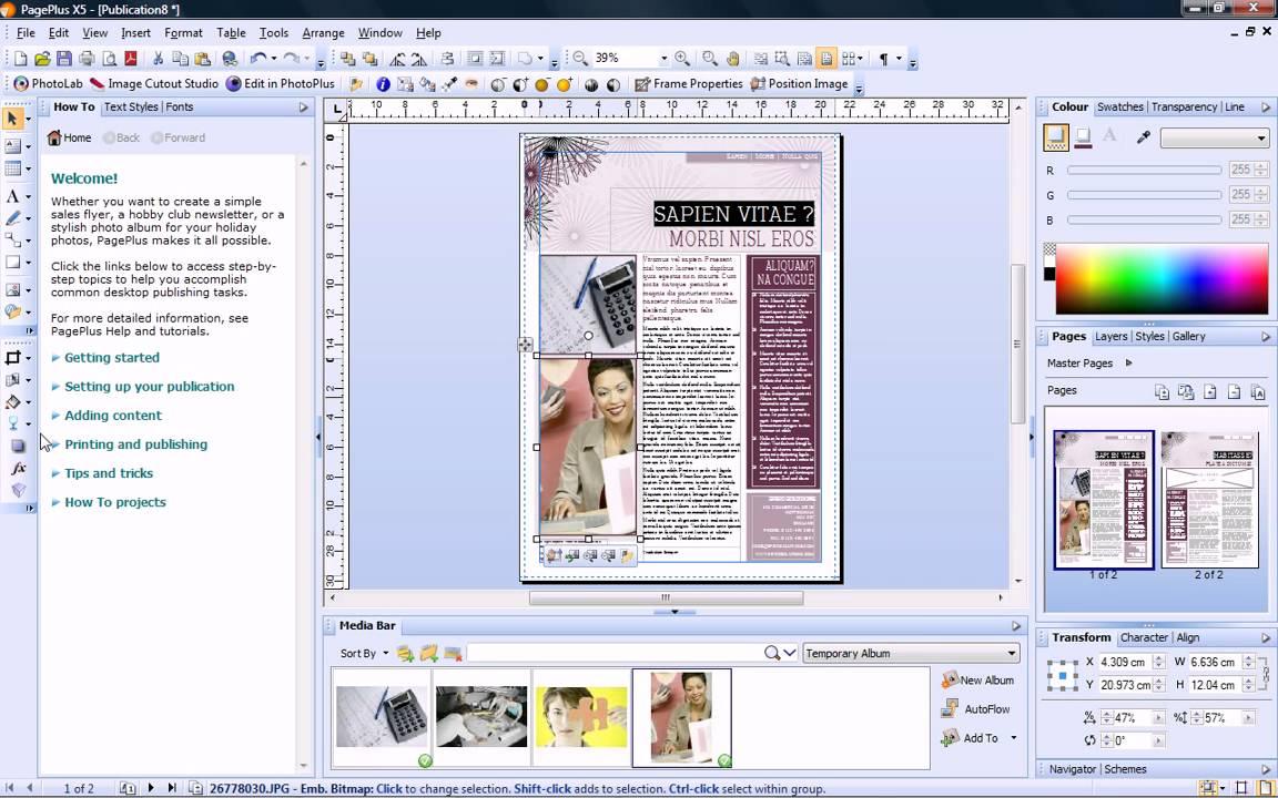 Serif page keygen