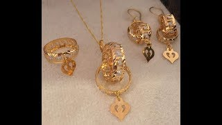 light weight gold pendant set designs || lifestyle