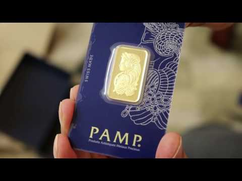 APMEX PAMP suisse 20g Bullion Gold Bar Unboxing 2016/2017 **FULL HD**