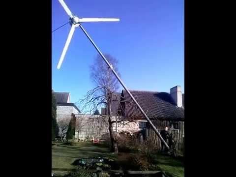 Wind generator landing